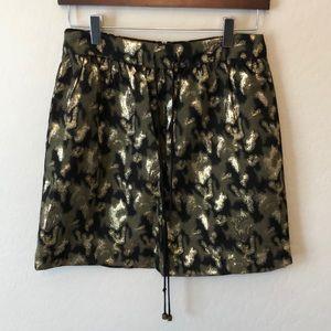 Gryphon New York Metallic Camp Mini Skirt Size L